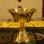 Lamp, brass, 2 inches, $8.00