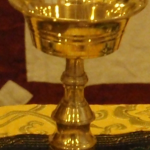Lamp, brass, 4.25 inches, $13.64