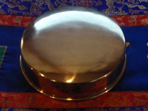 Mandala offering plate brass 6.5 inch $40